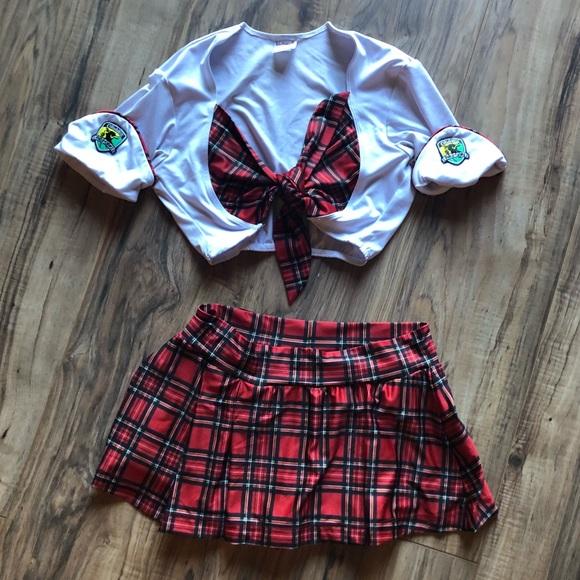 Tilted Kilt Uniform skirt and top